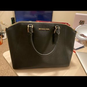 Michael Kors Ciara Large Saffiano Leather Satchel